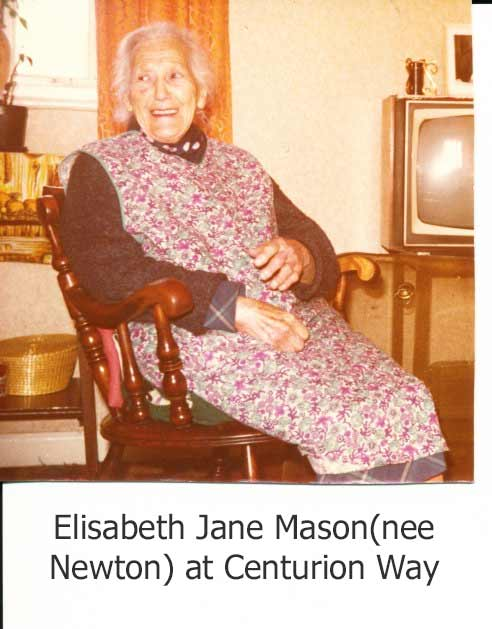 Elisabeth Jane Mason(nee Newton) at Centurion Way, Heddon-on-the-Wall