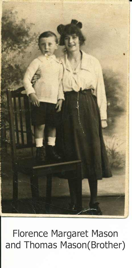 Florence Margaret Mason and her brother Thomas Mason