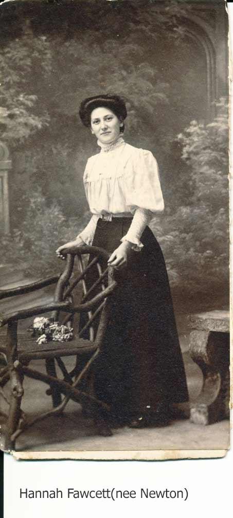 Hannah Fawcett(nee Newton) sister of Elisabeth Jane Mason(nee Mason)