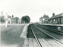 North Wylam Station looking towards Newcastle in July 1964