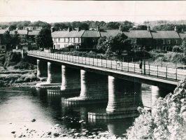 Wylam Bridge from South Wylam Station in July 1947