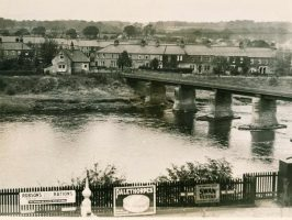 Wylam Bridge from South Wylam Station in October 1936