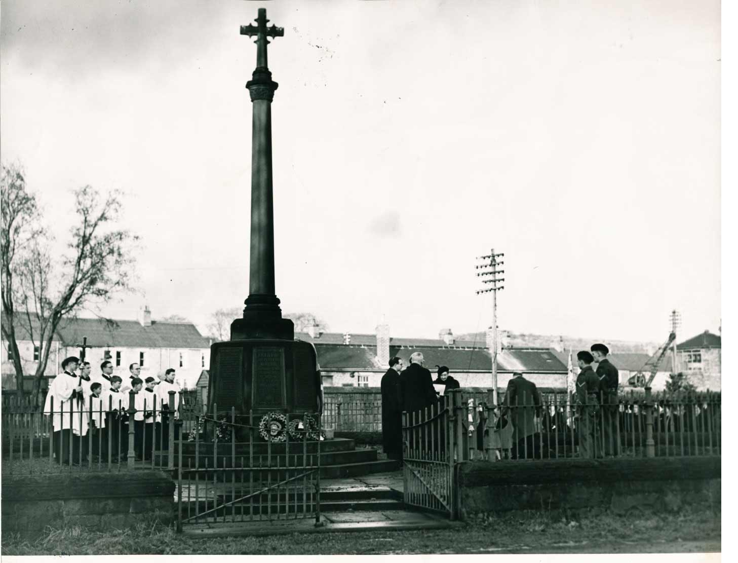 Wylam War Memorial January 1951