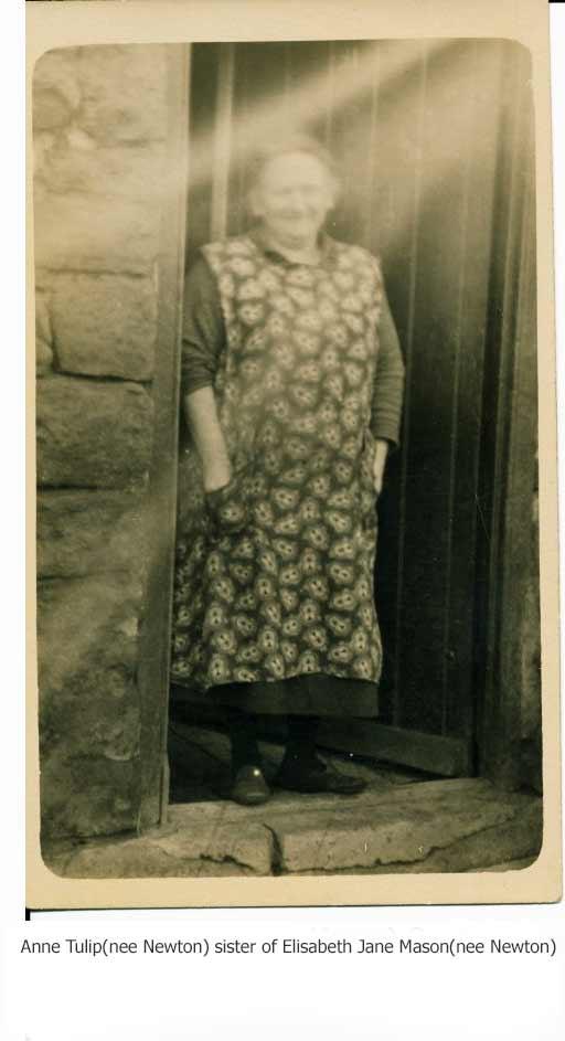 Anne Tulip(nee Newton) sister of Elisabeth Jane Mason(nee Newton)