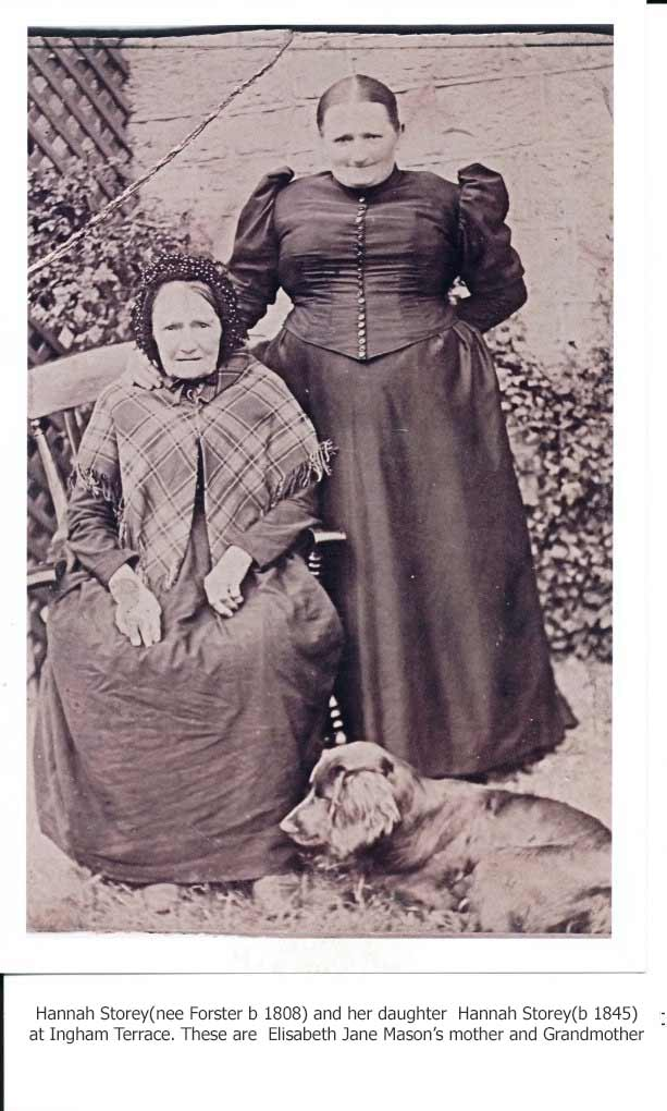 Hannah Storey(nee Forster b. 1808) and her daughter Hannah(b. 1845)