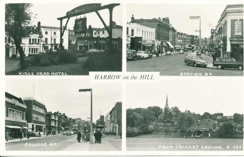 Old Postcard of Harrow on the Hill
