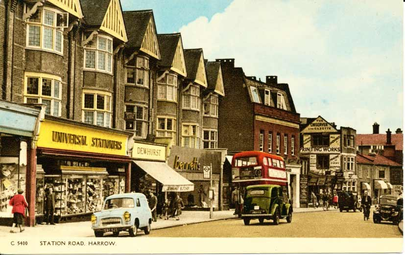 Postcard of Harrow on the Hill