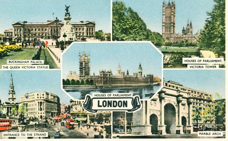 Postcard of Views of London