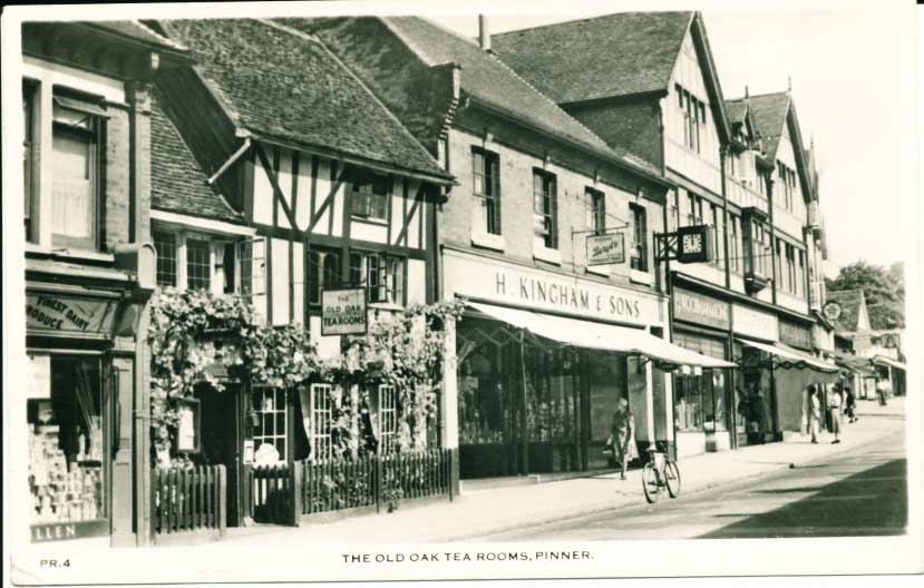 Postcard of Tea Rooms at Pinner