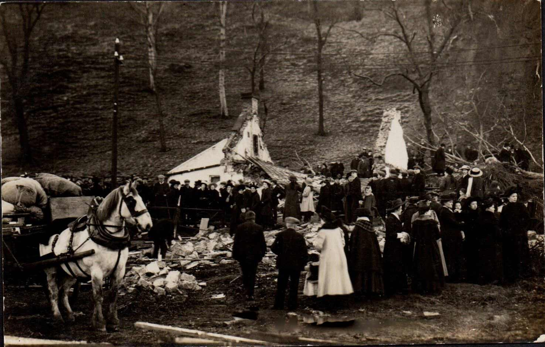 After the landslip disaster at the Bogs cottages(Hagg Bank)